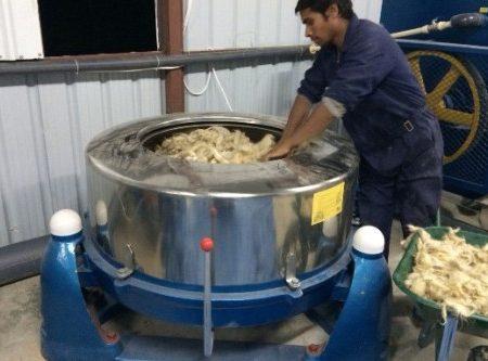 washing wool in washing machine